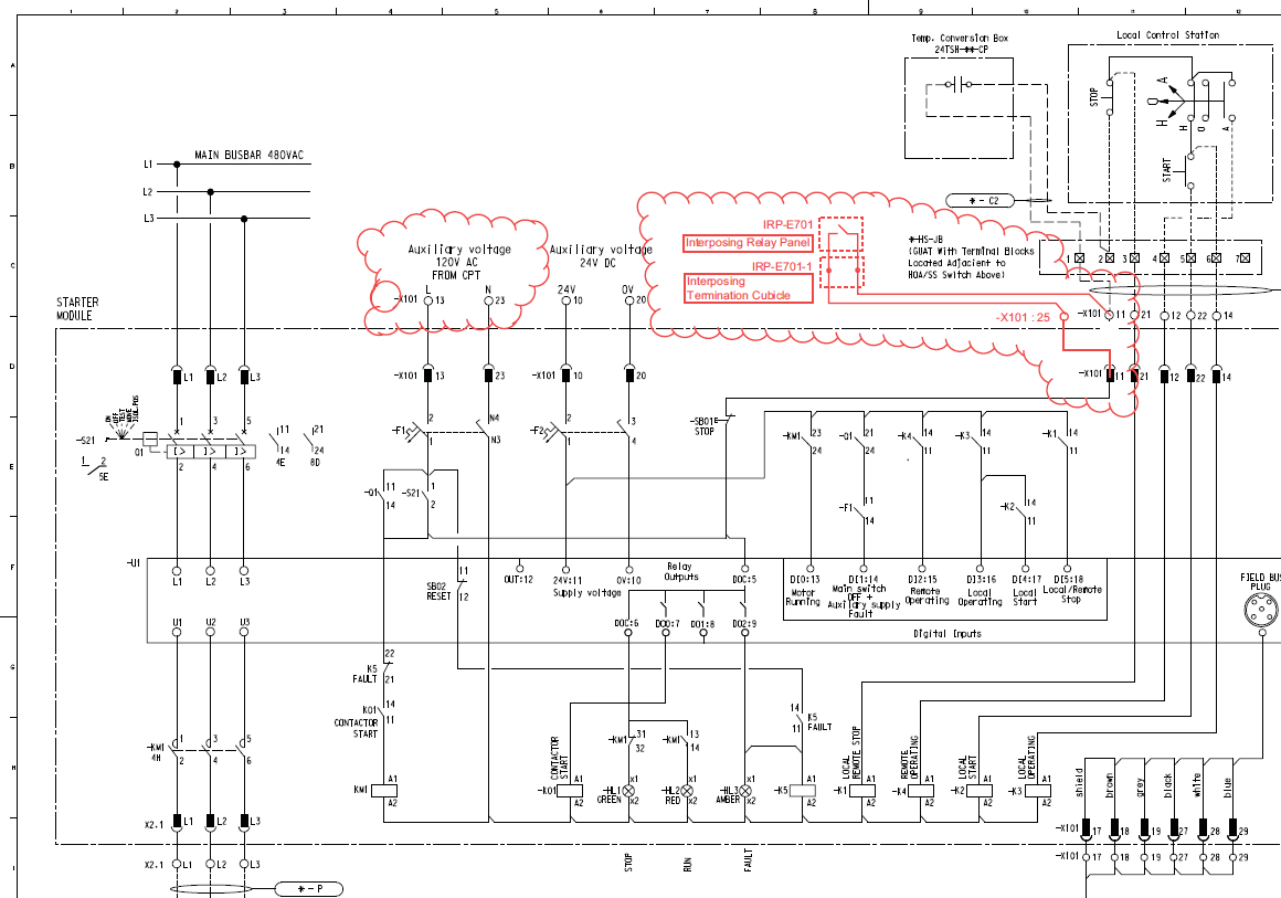 Control And Relay Panel Wiring Diagram : Interposing relay schematic latching