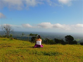 Me sitting on a hill in Costa Rica