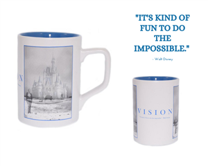 Walt Disney World Mug showcasing the Walt Disney vision