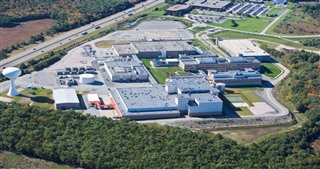 An overhead view of the Amgen Rhode Island (ARI) site.